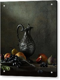 Still Life With A Jug And A Snake Acrylic Print by Diana Amelina