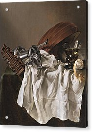 Still Life With A Lute Acrylic Print
