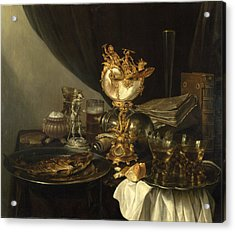 Still Life With A Nautilus Cup Acrylic Print by Gerrit Willemsz Heda