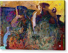 Still Life With Aged Pottery Acrylic Print by John Fish