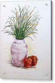 Still Life With Apples Acrylic Print by Renee Goularte