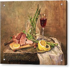 Still Life With Asparagus Acrylic Print