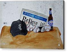 Still Life With Autograph Baseballs Acrylic Print by Raymond Perez