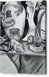 Still Life With Bones And Apples Acrylic Print