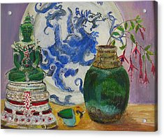 Still Life With Buddha Acrylic Print