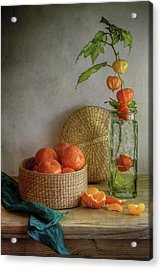 Still Life With Clementines Acrylic Print by Mandy Disher