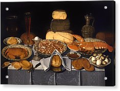 Still Life With Crab Shrimp And Lobsters Acrylic Print