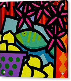 Still Life With Fish Acrylic Print by John  Nolan