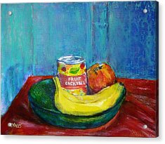 Still Life With Fruit And Humor Acrylic Print