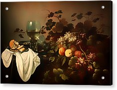 Still Life With Fruit And Roemer Acrylic Print by Mountain Dreams