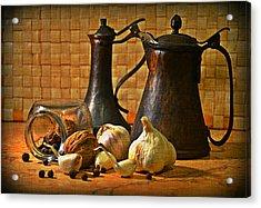 Still Life With Garlic Acrylic Print