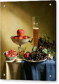 Still Life With Grapes  Acrylic Print