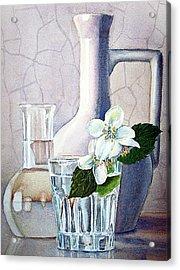 Still Life With Jasmine Acrylic Print by Irina Sztukowski