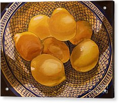 Still Life With Lemons Acrylic Print