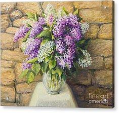 Still Life With Lilacs Acrylic Print