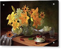 Still Life With Lilies Acrylic Print