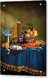 Still Life With Lobster Fruits And Great Salt Acrylic Print