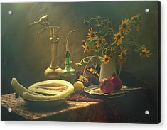 Still Life With Melon Acrylic Print