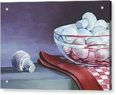 Still Life With Mushrooms Acrylic Print by Natasha Denger