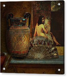 Still Life With Nude Acrylic Print by Jeff Burgess