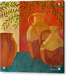 Still Life With Olive Branches I Acrylic Print