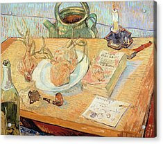 Still Life With Onions Acrylic Print by Vincent van Gogh