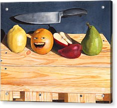 Still Life With Orange No. 2 Acrylic Print