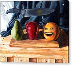 Still Life With Orange No. 3 Acrylic Print