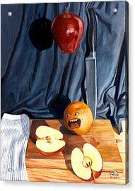 Still Life With Orange  No. 4 Acrylic Print