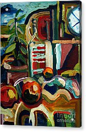 Still Life With Oranges Archived Acrylic Print by Charlie Spear