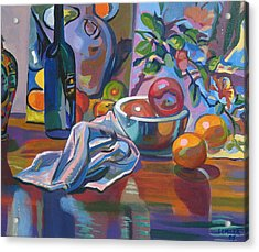 Acrylic Print featuring the painting Still Life With Oranges by Clyde Semler