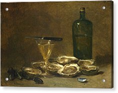 Still Life With Oysters Acrylic Print by Philippe Rousseau