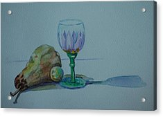Still Life With Pear Acrylic Print by Venetia Bebi