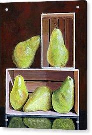 Still Life With Pears Acrylic Print by Karyn Robinson