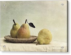 Still Life With Pears Acrylic Print by Priska Wettstein
