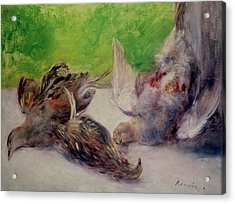 Still Life With Pheasants  Acrylic Print