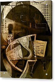 Still Life With Piano And Bust Acrylic Print