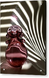 Still Life With  Pink Bottle Acrylic Print by Monika A Leon