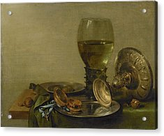 Still Life With Roemer And Silver Tazza Acrylic Print by Litz Collection