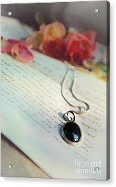 Still Life With Roses And A Black Pendant Acrylic Print