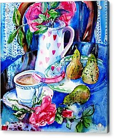 Still Life With Roses  Acrylic Print by Trudi Doyle