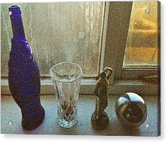 Still Life With Silver Ball Acrylic Print by John Parsons