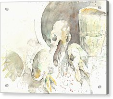 Still Life With Skulls Acrylic Print by Melinda Dare Benfield
