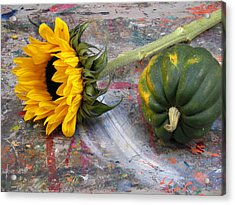 Still Life With Sunflower Acrylic Print