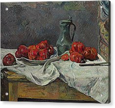Still Life With Tomatoes Acrylic Print by Paul Gauguin