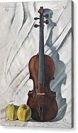 Still Life With Violin Acrylic Print