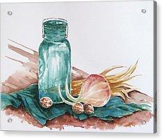 Still Life With Walnuts Acrylic Print by Renee Goularte