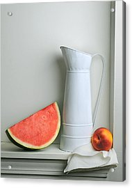 Still Life With Watermelon Acrylic Print