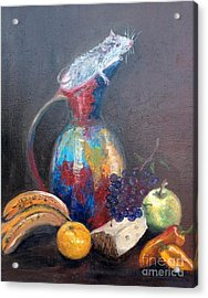Still Life With White Mouse Acrylic Print by Irene Pomirchy