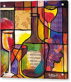 Still Life With Wine And Fruit Acrylic Print